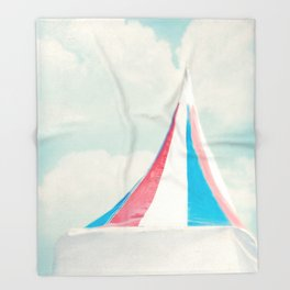 Carnival Tent Throw Blanket