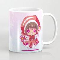 chibi Mugs featuring Chibi Sakura by Neo Crystal Tokyo