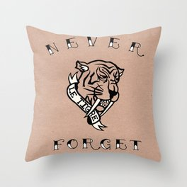 Never Forget - Sabre toothed cat Throw Pillow