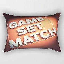 Game Set Match Rectangular Pillow