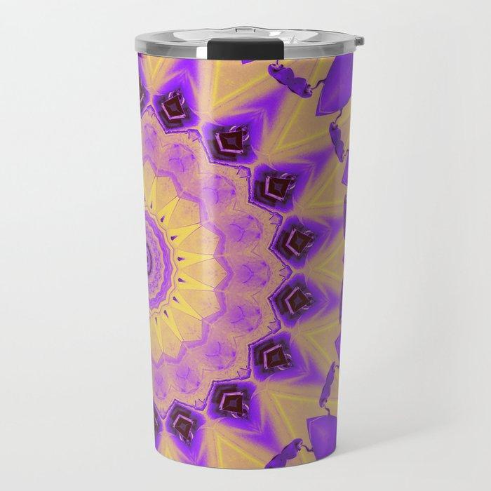 Bold Purple and Yellow Mandala Travel Mug