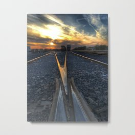 Wrong Side of the Tracks Metal Print