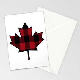 Plaid Maple Leaf Stationery Cards