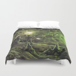 Harry and Dumbledore in the Horcrux Cave Duvet Cover