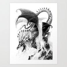 Storm Dragon Art Print