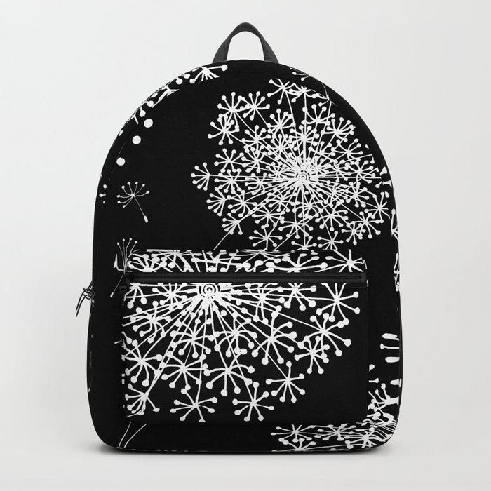 DANDELION SNOWFLAKE BLACK Backpack
