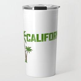California Love Palm Tree Travel Mug