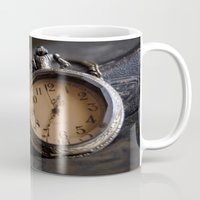 pocket Mugs featuring Pocket Watch by Colleen G. Drew