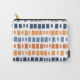 Orange and Blue Dash 05 Carry-All Pouch