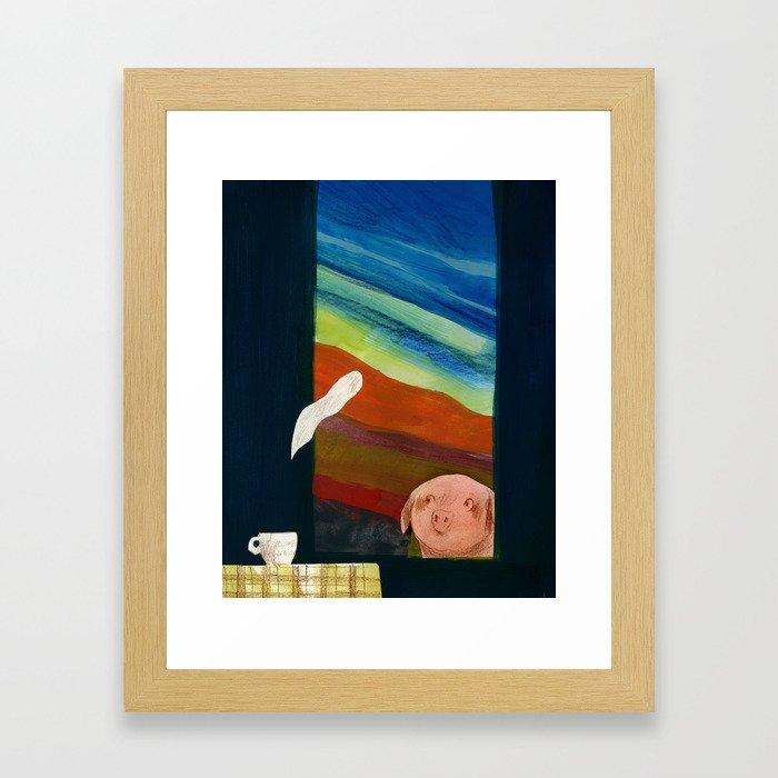 Steam away Framed Art Print