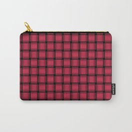 Amaranth Red Pink Weave Pattern Carry-All Pouch