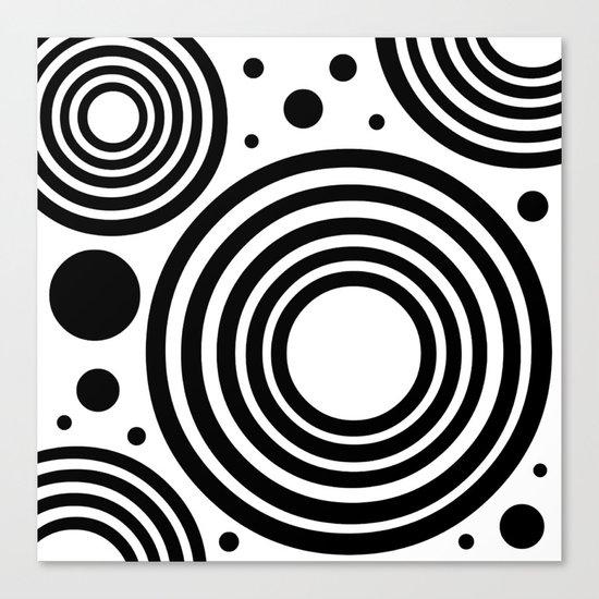 Circular  |  Black and White Canvas Print