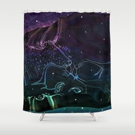 Celestial Cave Dwellers Shower Curtain