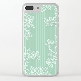 SPRING IN GREEN Clear iPhone Case