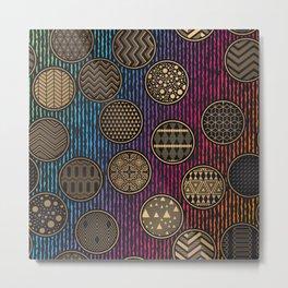 Retro vintage luxury pattern Metal Print