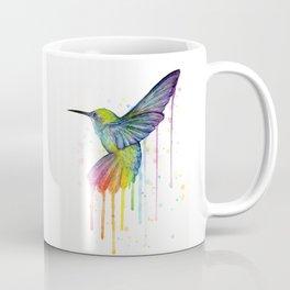 Hummingbird Rainbow Watercolor Coffee Mug