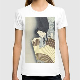 Samurai Aoyama and the ghost Okiku, Toyohara Kunichika, 1892 T-shirt