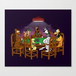 the Poker Gang!!! Canvas Print