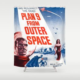 Vintage poster - Plan 9 from Outer Space Shower Curtain