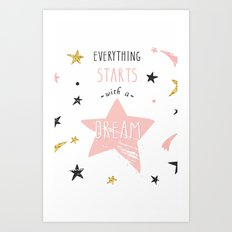 Everything stars Art Print