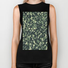 Pixelated MULTICAM Camouflage Pattern Vector army Biker Tank