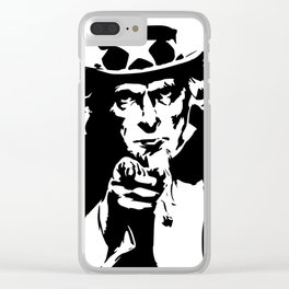 Uncle sam government symbol america Clear iPhone Case