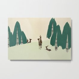 Deer from Momoyogusa by Kamisaka Sekka Metal Print