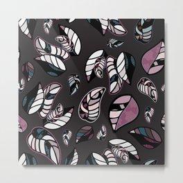 leaves winter vector seamless pattern Metal Print