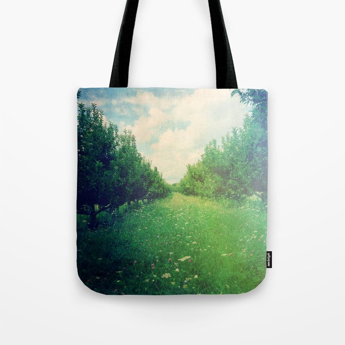 Apple Orchard in Spring Tote Bag