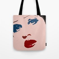 hedwig Tote Bags featuring Darren is Hedwig! by byebyesally