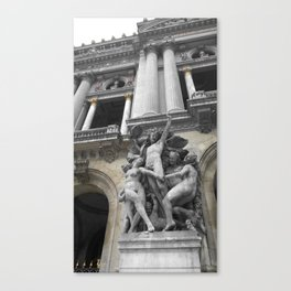 Paris Opera black and white with color GOLD Canvas Print