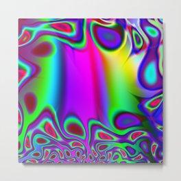 Colorful Rainbow Funky Fractal Metal Print