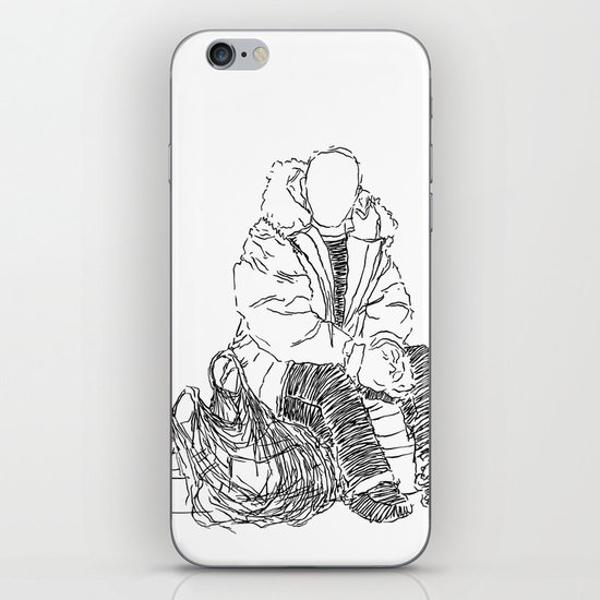 Just Sitting Down iPhone Skin
