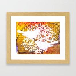 Twin Birds Framed Art Print