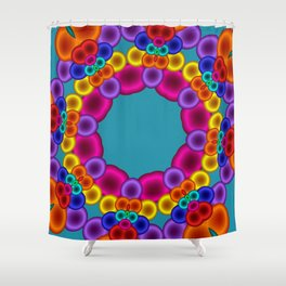 joy and energy -3- Shower Curtain