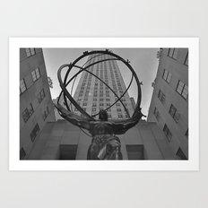 Atlas Statue and Rockefeller Center Art Print