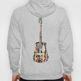 Acoustic Guitar | Magazine Strip Art Hoody