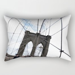 Brooklyn Bridge, quaking. Rectangular Pillow