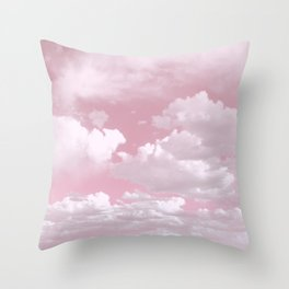 Clouds in a Pink Sky Throw Pillow