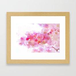 Japanese Sakura Tree with Pastel Pink Blossoms Framed Art Print