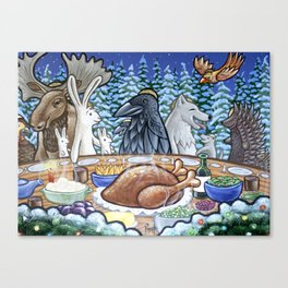 Everyone Is Invited To The Feast Canvas Print