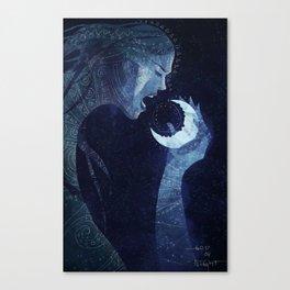 Goddess of Night Canvas Print