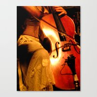 cello Canvas Prints featuring Cello by LittleTinyAnimals