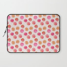 Tennis Balls / Coral / Pink / Pattern Watercolor Laptop Sleeve