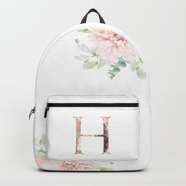 H - Floral Monogram Collection Backpack