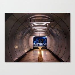 Melbourne Metro Subway Canvas Print