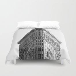 Flatiron Black and White NYC Duvet Cover