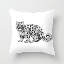 Snow Leopard cub g142 Throw Pillow