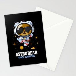 Bear astronaut Stationery Cards