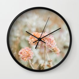 Blooming in the Dunes Wall Clock